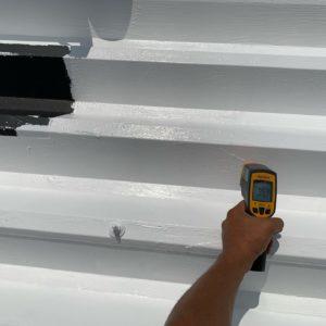 断熱塗装 施行後 屋根表面温度 35.9℃ タケガワ塗装