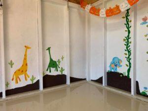 壁面アート タケガワふれあい動物園 タケガワ塗装 松阪市