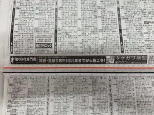 新聞広告 三重県 タケガワ塗装 旧デザイン