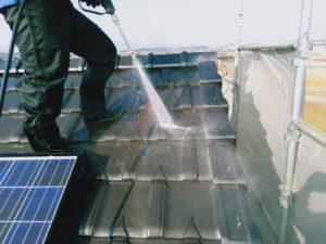 タケガワ塗装 屋根の高圧洗浄