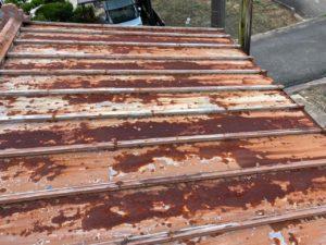 トタン屋根 さび 修繕前 タケガワ塗装
